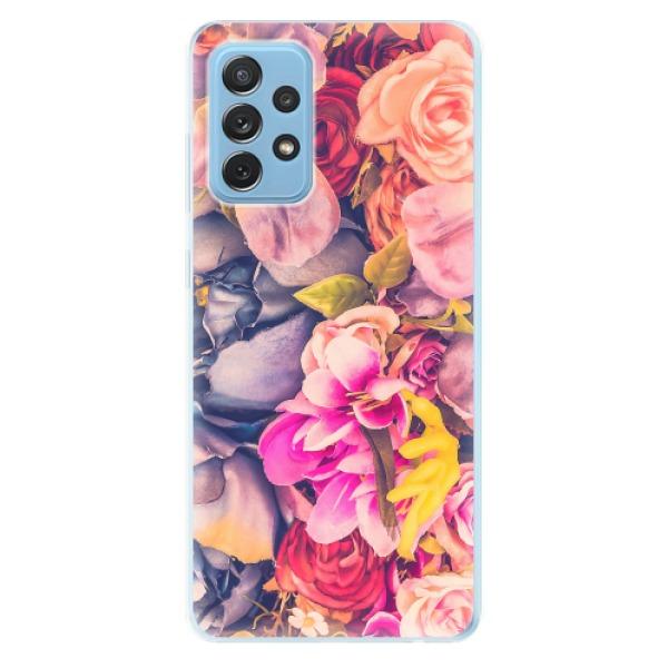 Odolné silikonové pouzdro iSaprio - Beauty Flowers - Samsung Galaxy A72