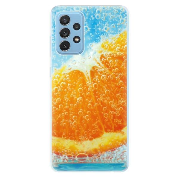 Odolné silikonové pouzdro iSaprio - Orange Water - Samsung Galaxy A72