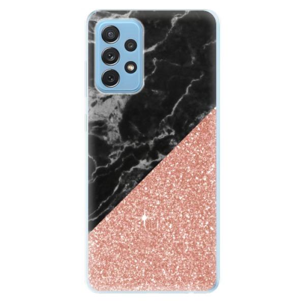 Odolné silikonové pouzdro iSaprio - Rose and Black Marble - Samsung Galaxy A72
