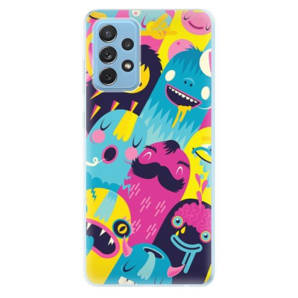 Odolné silikonové pouzdro iSaprio - Monsters - Samsung Galaxy A72