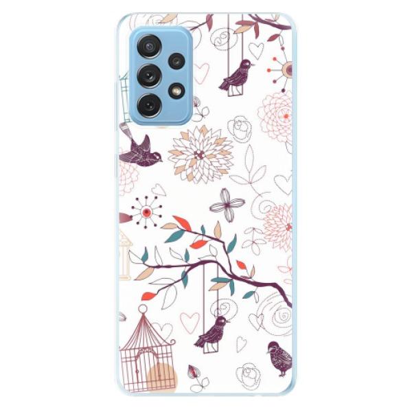 Odolné silikonové pouzdro iSaprio - Birds - Samsung Galaxy A72