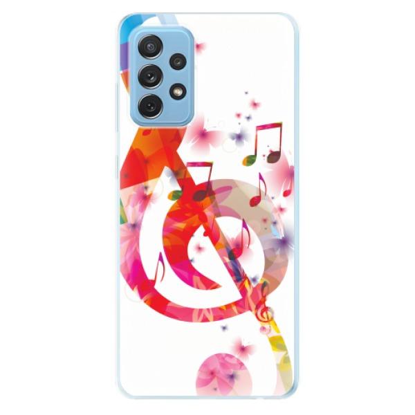 Odolné silikonové pouzdro iSaprio - Love Music - Samsung Galaxy A72