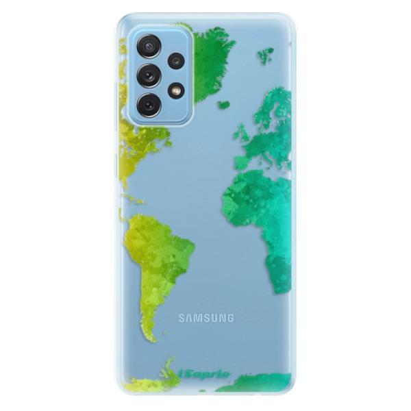 Odolné silikonové pouzdro iSaprio - Cold Map - Samsung Galaxy A72