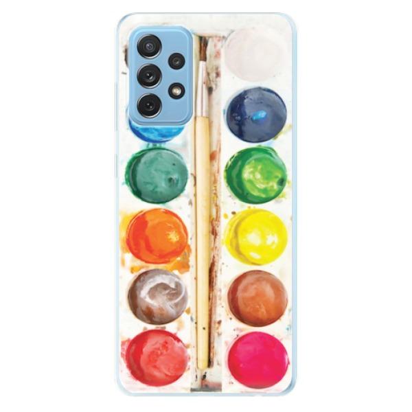 Odolné silikonové pouzdro iSaprio - Watercolors - Samsung Galaxy A72