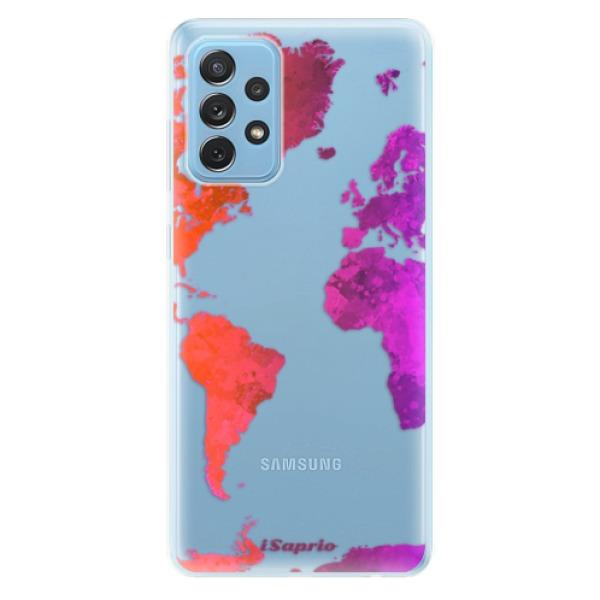 Odolné silikonové pouzdro iSaprio - Warm Map - Samsung Galaxy A72