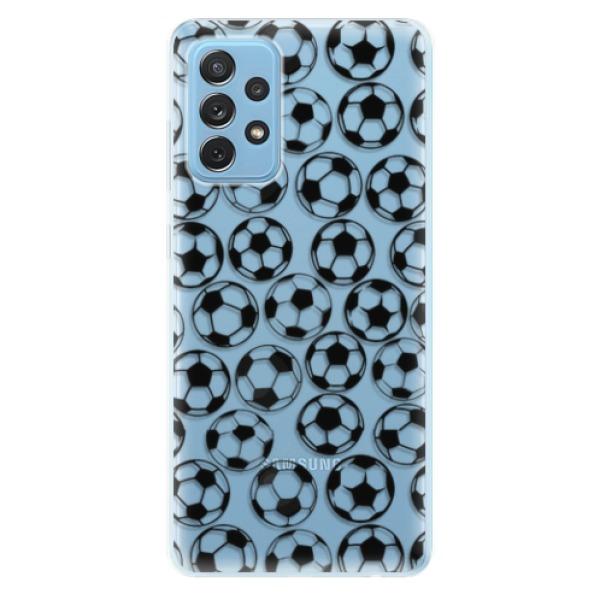 Odolné silikonové pouzdro iSaprio - Football pattern - black - Samsung Galaxy A72