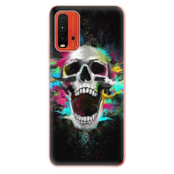 Odolné silikonové pouzdro iSaprio - Skull in Colors - Xiaomi Redmi 9T
