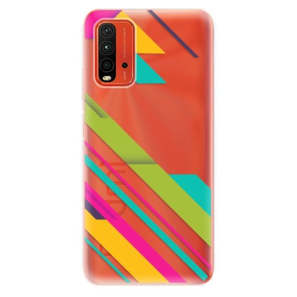 Odolné silikonové pouzdro iSaprio - Color Stripes 03 - Xiaomi Redmi 9T
