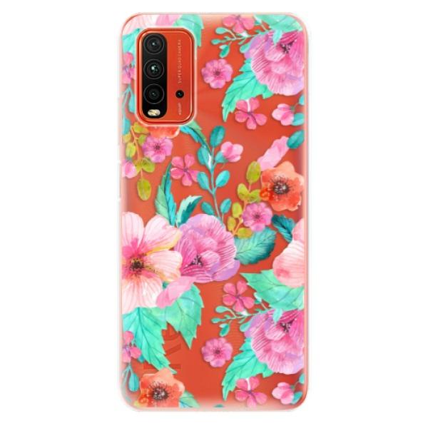 Odolné silikonové pouzdro iSaprio - Flower Pattern 01 - Xiaomi Redmi 9T