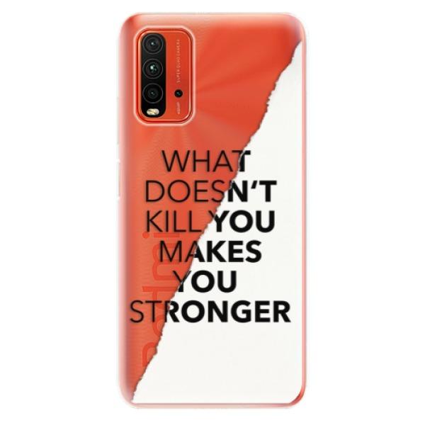 Odolné silikonové pouzdro iSaprio - Makes You Stronger - Xiaomi Redmi 9T