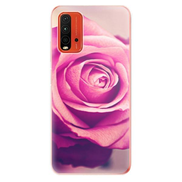 Odolné silikonové pouzdro iSaprio - Pink Rose - Xiaomi Redmi 9T