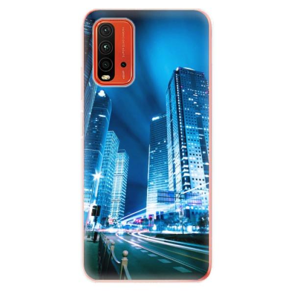 Odolné silikonové pouzdro iSaprio - Night City Blue - Xiaomi Redmi 9T