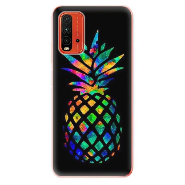 Odolné silikonové pouzdro iSaprio - Rainbow Pineapple - Xiaomi Redmi 9T