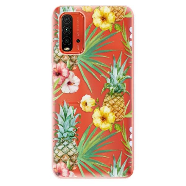 Odolné silikonové pouzdro iSaprio - Pineapple Pattern 02 - Xiaomi Redmi 9T