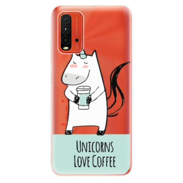 Odolné silikonové pouzdro iSaprio - Unicorns Love Coffee - Xiaomi Redmi 9T