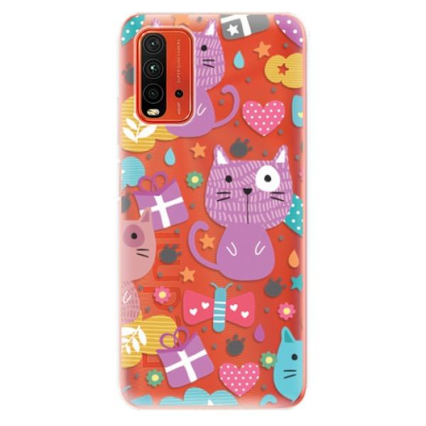 Odolné silikonové pouzdro iSaprio - Cat pattern 01 - Xiaomi Redmi 9T