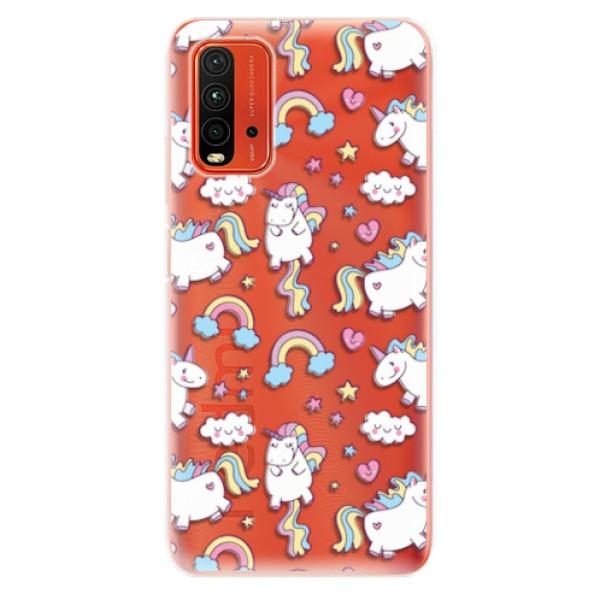 Odolné silikonové pouzdro iSaprio - Unicorn pattern 02 - Xiaomi Redmi 9T