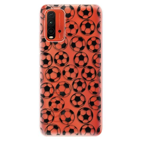 Odolné silikonové pouzdro iSaprio - Football pattern - black - Xiaomi Redmi 9T