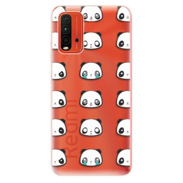 Odolné silikonové pouzdro iSaprio - Panda pattern 01 - Xiaomi Redmi 9T
