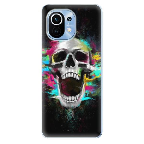 Odolné silikonové pouzdro iSaprio - Skull in Colors - Xiaomi Mi 11