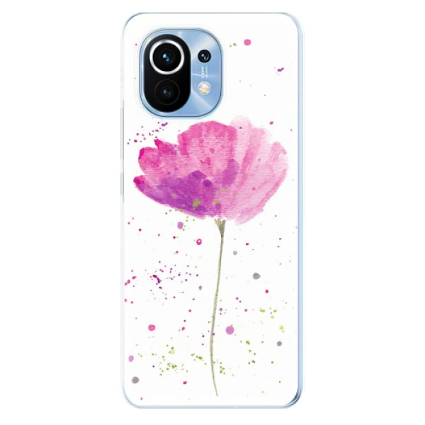 Odolné silikonové pouzdro iSaprio - Poppies - Xiaomi Mi 11
