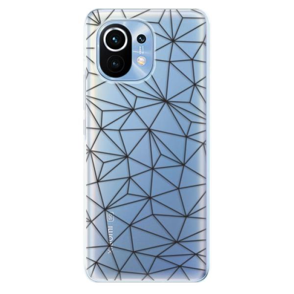 Odolné silikonové pouzdro iSaprio - Abstract Triangles 03 - black - Xiaomi Mi 11
