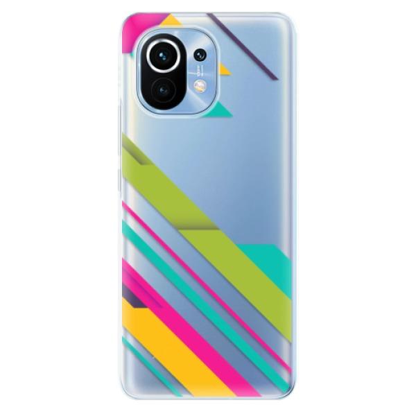 Odolné silikonové pouzdro iSaprio - Color Stripes 03 - Xiaomi Mi 11