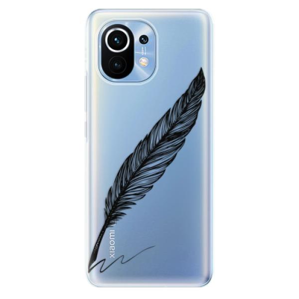 Odolné silikonové pouzdro iSaprio - Writing By Feather - black - Xiaomi Mi 11