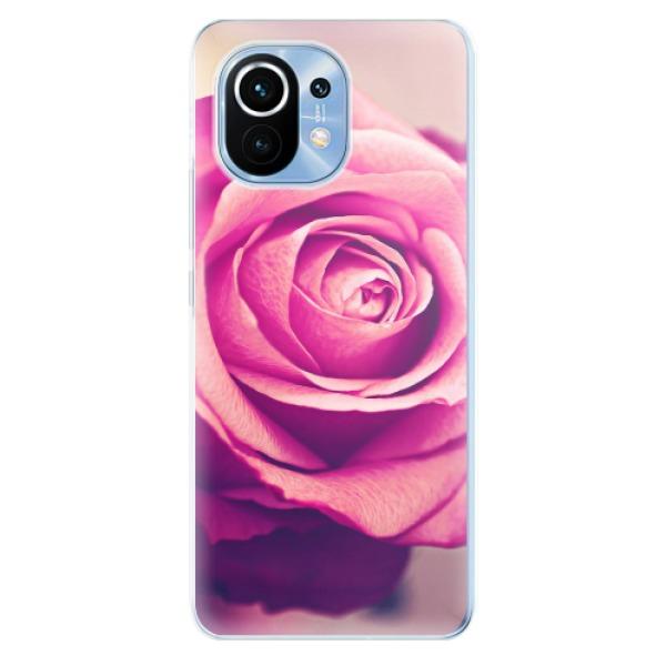 Odolné silikonové pouzdro iSaprio - Pink Rose - Xiaomi Mi 11