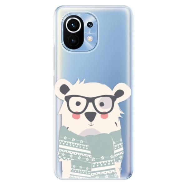 Odolné silikonové pouzdro iSaprio - Bear with Scarf - Xiaomi Mi 11