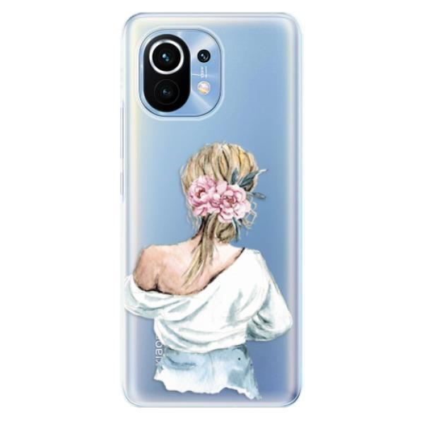 Odolné silikonové pouzdro iSaprio - Girl with flowers - Xiaomi Mi 11