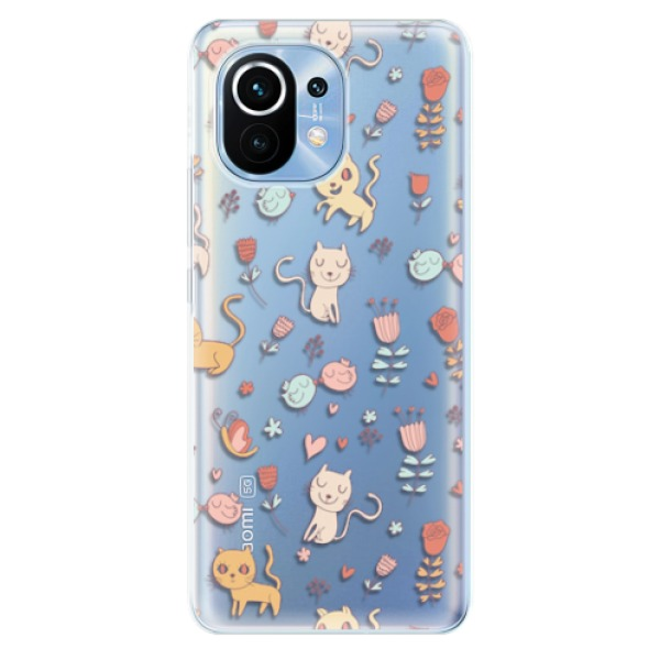 Odolné silikonové pouzdro iSaprio - Cat pattern 02 - Xiaomi Mi 11