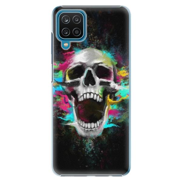 Plastové pouzdro iSaprio - Skull in Colors - Samsung Galaxy A12