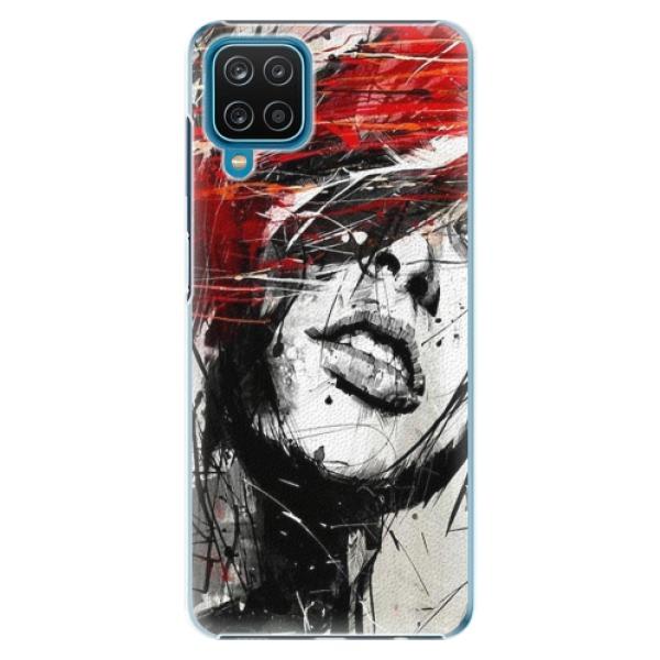 Plastové pouzdro iSaprio - Sketch Face - Samsung Galaxy A12