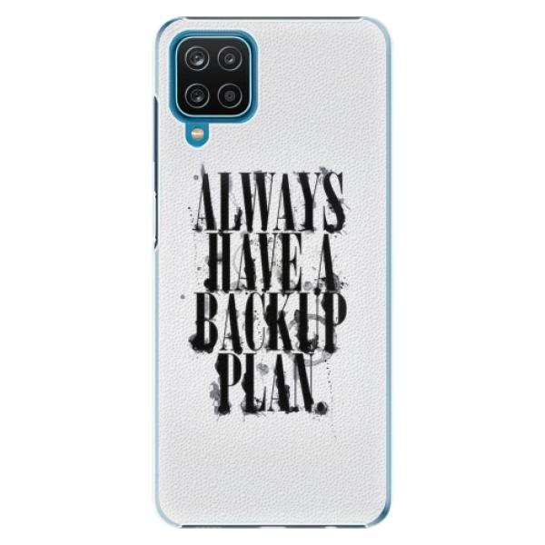 Plastové pouzdro iSaprio - Backup Plan - Samsung Galaxy A12