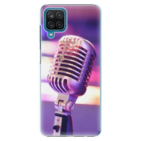 Plastové pouzdro iSaprio - Vintage Microphone - Samsung Galaxy A12