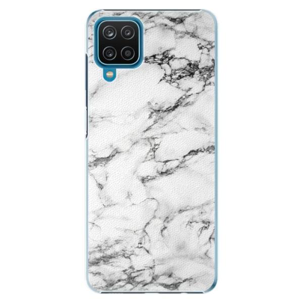 Plastové pouzdro iSaprio - White Marble 01 - Samsung Galaxy A12