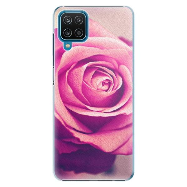 Plastové pouzdro iSaprio - Pink Rose - Samsung Galaxy A12