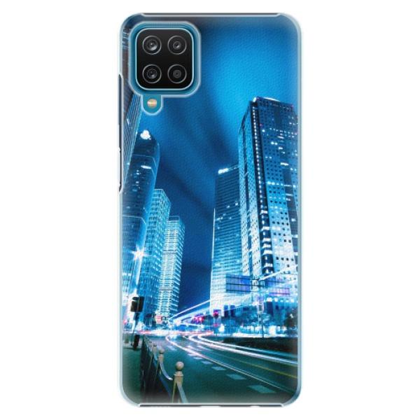 Plastové pouzdro iSaprio - Night City Blue - Samsung Galaxy A12