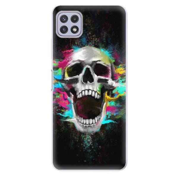 Odolné silikonové pouzdro iSaprio - Skull in Colors - Samsung Galaxy A22 5G