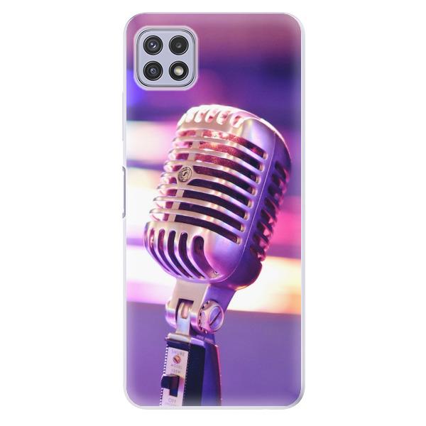 Odolné silikonové pouzdro iSaprio - Vintage Microphone - Samsung Galaxy A22 5G