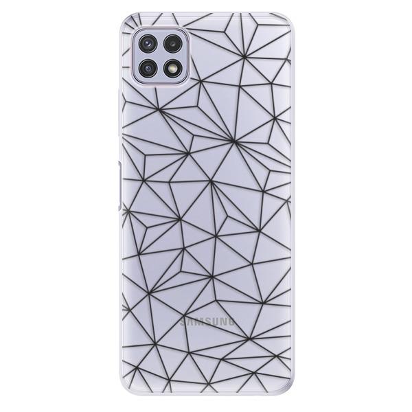 Odolné silikonové pouzdro iSaprio - Abstract Triangles 03 - black - Samsung Galaxy A22 5G