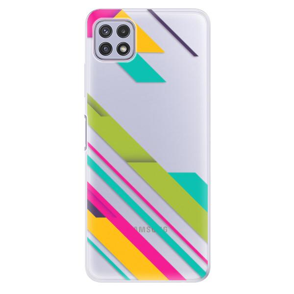 Odolné silikonové pouzdro iSaprio - Color Stripes 03 - Samsung Galaxy A22 5G
