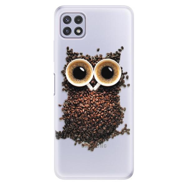 Odolné silikonové pouzdro iSaprio - Owl And Coffee - Samsung Galaxy A22 5G