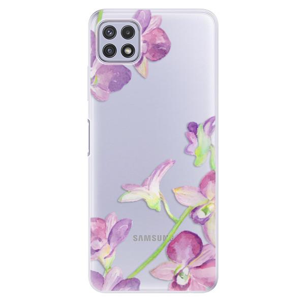 Odolné silikonové pouzdro iSaprio - Purple Orchid - Samsung Galaxy A22 5G