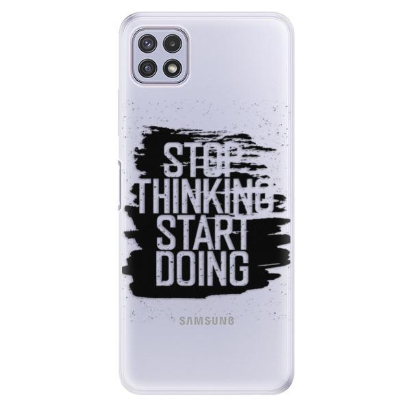 Odolné silikonové pouzdro iSaprio - Start Doing - black - Samsung Galaxy A22 5G