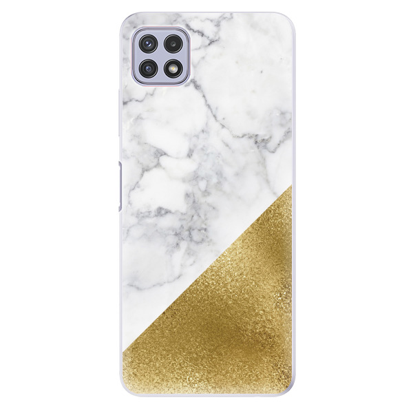 Odolné silikonové pouzdro iSaprio - Gold and WH Marble - Samsung Galaxy A22 5G