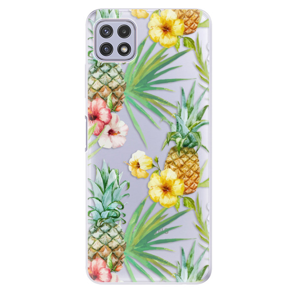 Odolné silikonové pouzdro iSaprio - Pineapple Pattern 02 - Samsung Galaxy A22 5G