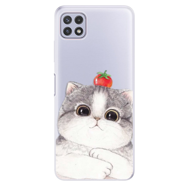 Odolné silikonové pouzdro iSaprio - Cat 03 - Samsung Galaxy A22 5G