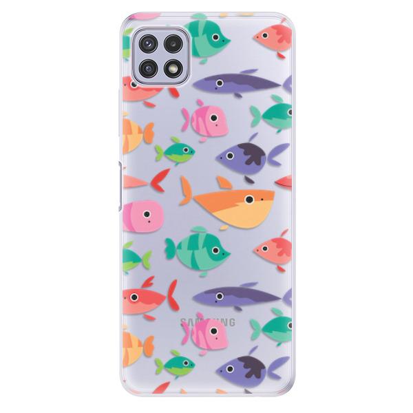 Odolné silikonové pouzdro iSaprio - Fish pattern 01 - Samsung Galaxy A22 5G